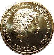 1 Dollar - Elizabeth II (4th Portrait - AFL Premiers Hawthorn 2014) -  obverse