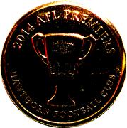 1 Dollar - Elizabeth II (4th Portrait - AFL Premiers Hawthorn 2014) -  reverse