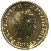 1 Dollar Elizabeth II (100th Anniversary of the ANZAC Landings) -  obverse
