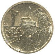1 Dollar Elizabeth II (100th Anniversary of the ANZAC Landings) -  reverse