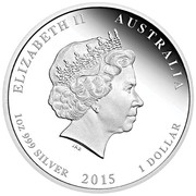 1 Dollar - Elizabeth II (4th Portrait - Year of the Goat - Coloured) -  obverse