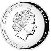 "1 Dollar - Elizabeth II (""Year of the Goat"" High Relief Proof) -  obverse"