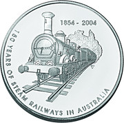 5 Dollars - Elizabeth II (Steam Railways) -  reverse
