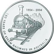 5 Dollars - Elizabeth II (Steam Railways) -  reverse