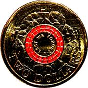 2 Dollars - Elizabeth II (4th Portrait - ANZAC Day - War Graves) -  reverse