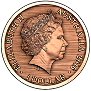 1 Dollar - Elizabeth II (4th Portrait - Convict Token - Gaol Bird) -  obverse