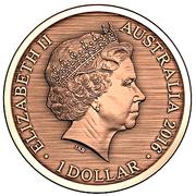 1 Dollar - Elizabeth II (4th Portrait - Convict Token - Forget Me, Not) -  obverse