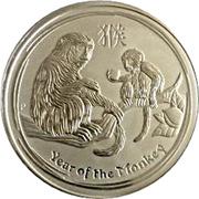 8 Dollars - Elizabeth II (4th Portrait - Year of the Monkey - Silver Bullion Coin) -  reverse