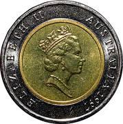 5 Dollars - Elizabeth II (3rd Portrait - Sir Donald Bradman) – obverse