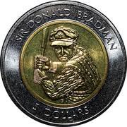 5 Dollars - Elizabeth II (3rd Portrait - Sir Donald Bradman) -  reverse