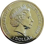 1 Dollar - Elizabeth II (4th Portrait - Year of the Dog) – obverse