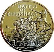 1 Dollar - Elizabeth II (Century of the Battle of Beersheba) -  reverse