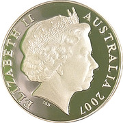 5 Dollars - Elizabeth II (4th Portrait - Clifford Possum Tjapaltjarri - Masterpieces in Silver) -  obverse