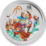 1 Dollar - Elizabeth II (Year of the Monkey - Monkey King) -  reverse