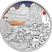 1 Dollar - Elizabeth II (ANZAC Spirit 100th Anniversary Coin Series – Many Never Returned) -  reverse