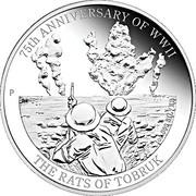 1 Dollar - Elizabeth II (4th Portrait - 75th Anniversary of WWII - The Rats of Tobruk) -  reverse