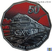 50 Cents - Elizabeth II (4th Portrait - 90th Anniversary of The Ghan) -  reverse