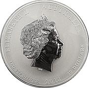 """30 Dollars - Elizabeth II (""""Lunar Year Series II"""" Silver Bullion Coinage) -  obverse"""