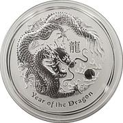 30 Dollars - Elizabeth II (4th Portrait - Year of the Dragon - Silver Bullion Coin) -  reverse