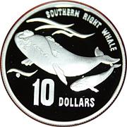 10 Dollars - Elizabeth II (Southern Right Whale) -  reverse