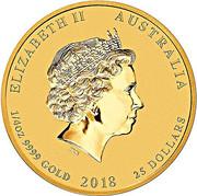 25 Dollars - Elizabeth II (4th Portrait - Year of the Dog - Gold Bullion Coin) -  obverse