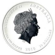 """30 Dollars - Elizabeth II (""""Lunar Year Series II"""" Silver Bullion Coinage, Tiger) -  obverse"""