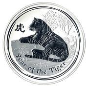 """30 Dollars - Elizabeth II (""""Lunar Year Series II"""" Silver Bullion Coinage, Tiger) -  reverse"""