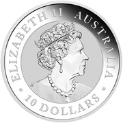 10 Dollars - Elizabeth II (6th Portrait - Australian Kookaburra - Silver Bullion Coin) -  obverse