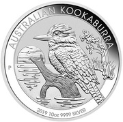 10 Dollars - Elizabeth II (6th Portrait - Australian Kookaburra - Silver Bullion Coin) -  reverse