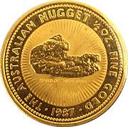 50 Dollars - Elizabeth II (3rd Portrait - Australian Nugget - Gold Bullion Coin) -  reverse