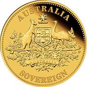25 Dollars - Elizabeth II (4th Portrait - The Sovereign - Gold Bullion Coin) -  reverse