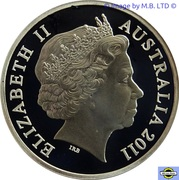 1 Cent - Elizabeth II (4th portrait; Silver Proof issue) -  obverse