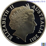 2 Cents - Elizabeth II (4th portrait - Silver Proof issue) -  obverse