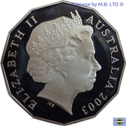 50 Cents - Elizabeth II (4th Portrait - Coronation Jubilee - Silver Proof) – obverse