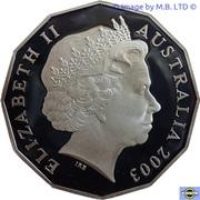 50 Cents - Elizabeth II (4th Portrait - Coronation Jubilee - Silver Proof) – obverse
