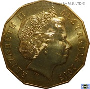 50 Cents - Elizabeth II (4th Portrait - Coronation Jubilee) – obverse