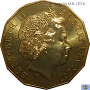 50 Cents - Elizabeth II (4th Portrait - Coronation Jubilee) -  obverse
