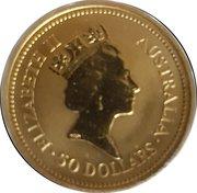 """50 Dollars - Elizabeth II (""""Kangaroo"""" Gold Bullion Coinage) -  reverse"""