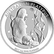 100 Dollars - Elizabeth II (4th Portrait - Platypus - Platinum Bullion Coin) -  reverse