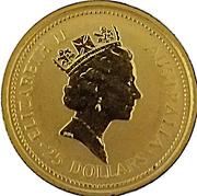 25 Dollars - Elizabeth II  (3rd Portrait - Kangaroo - Gold Bullion Coin) -  obverse