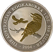1 Dollar - Elizabeth II Australian Kookaburra Gilded -  reverse