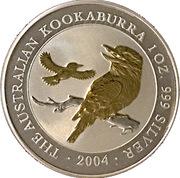 1 Dollar - Elizabeth II (4th Portrait - Australian Kookaburra - Gilded) -  reverse