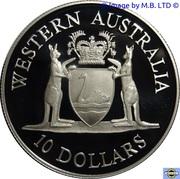 10 Dollars - Elizabeth II (3rd Portrait - Western Australia) -  reverse
