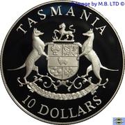 10 Dollars - Elizabeth II (3rd Portrait - Tasmania) -  reverse
