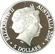 5 Dollars Elizabeth II (4th Portrait - Adelaide to Darwin Railway - Silver Proof) -  obverse