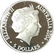 5 Dollars Elizabeth II (Adelaide to Darwin Railway) -  obverse