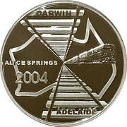 5 Dollars Elizabeth II (Adelaide to Darwin Railway) -  reverse