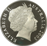 5 Dollars - Queen Elizabeth II (Rugby World Cup Gold Plated Silver Proof) -  obverse