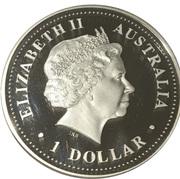 1 Dollar - Queen Elizabeth II (Prince William) Colourised Silver Proof – obverse