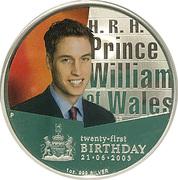 1 Dollar - Queen Elizabeth II (Prince William) Colourised Silver Proof – reverse